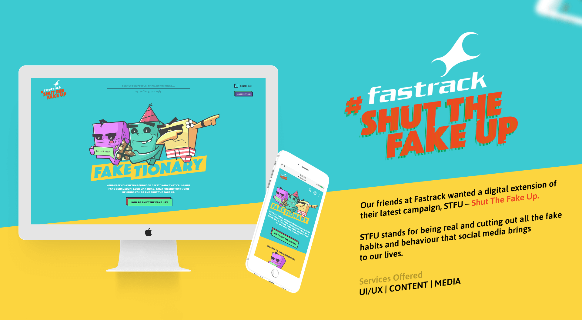 Fastrack Shut the Fake up banner
